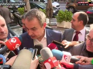 """Zapatero: """"No soy quién para decirle a Pedro Sánchez lo que debe hacer"""""""