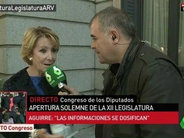 """Ferreras y Esperanza Aguirre, cara a cara en el Congreso: """"Ya sé que a usted le gusta ser más importante que Rajoy"""""""