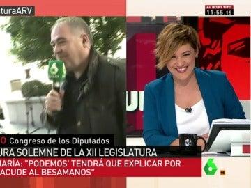 """Cristina Pardo a Ferreras: """"A ver si al final me vas a quitar el sitio, que a ti te atienden todos"""""""