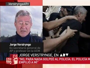 """Verstrynge: """"La Policía podría darse cuenta de que la educación resuelve más problemas que actuar como bestias"""""""