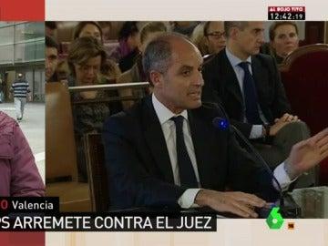 """Cristina Pardo: """"Camps acusa al juez de estar metido en una operación política para justificar la coalición en Valencia entre socialistas y separatistas"""""""