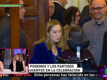 """Así versionan Cuqui y Puchi el saludo """"de kilómetro y medio"""" de Ana Pastor a Pablo Echenique: """"¡Dos besis!"""""""