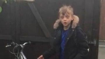 Sorpresa de un niño cuando le devolvieron su bici