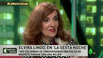 """Elvira Lindo: """"Mis columnas se consideraban falta de respeto porque soy mujer, muchos hombres hacían lo mismo"""""""