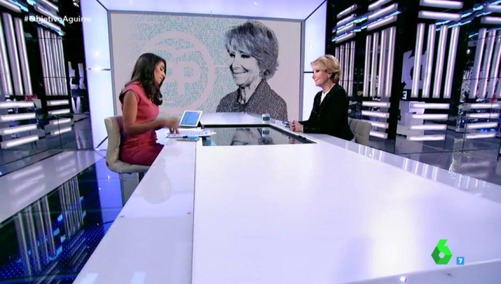 """Frame 3.544798 de: Esperanza Aguirre: """"No estoy de acuerdo con separar cargos del partido y cargos del Gobierno"""""""