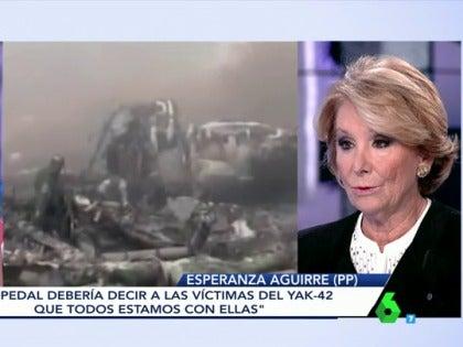 """Frame 17.005298 de: Esperanza Aguirre, sobre el Yak-42: """"Me parece que tenemos que pedir perdón todos, el Gobierno y el PP"""""""