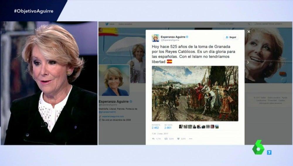 """Frame 24.403545 de: Aguirre habla de su tuit en el que dijo que """"con el Islam no tendríamos libertad"""": """"Decir la verdad muchas veces no gusta"""""""