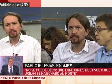 """Frame 100.95786 de: Pablo Iglesias: """"Hemos dado una imagen terrible, nuestra gente se está avergonzando. Se nos ha ido la mano"""""""