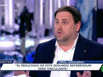 """Frame 199.845319 de: Oriol Junqueras: """"El resultado de este segundo referéndum será vinculante"""""""