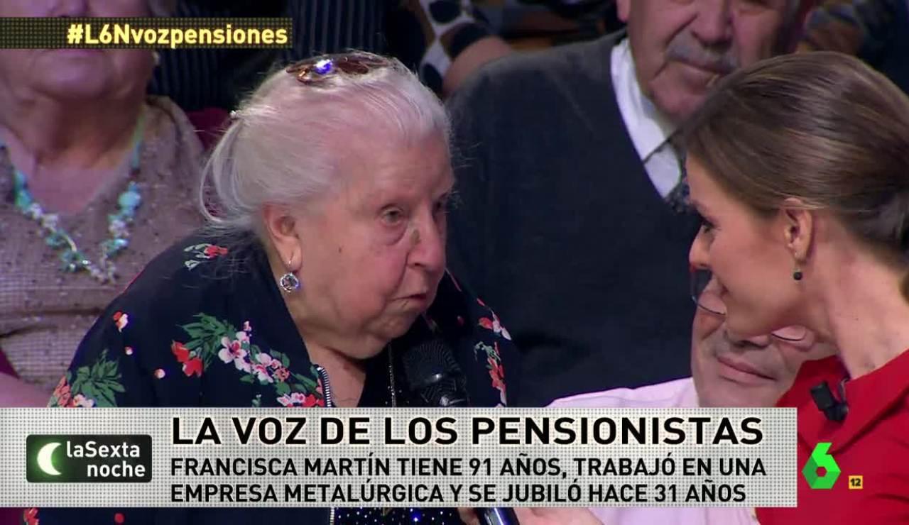 Paquita Martín, pensionista