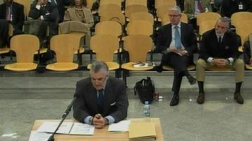 Luis Bárcenas, en el juicio de la Gürtel