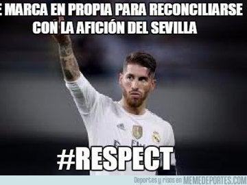 Sergio Ramos, protagonista de los 'memes' del Sevilla - Real Madrid