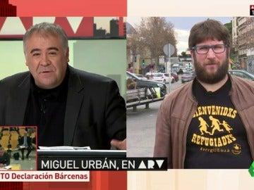 """Frame 3.378199 de: Miguel Urbán: """"Iglesias tendría que dejar de ser secretario general si alguien le gana en primarias"""""""