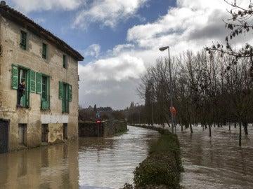 El río Arga a su paso por Pamplona
