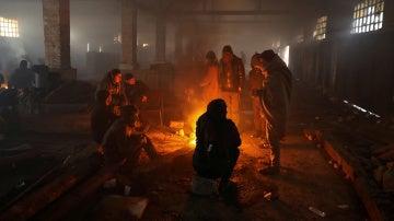 Situación de los refugiados en Belgrado