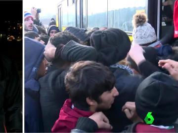 Traslado de refugiados en Serbia