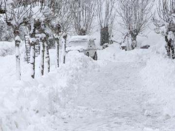 Navarra, sepultada por la nieve