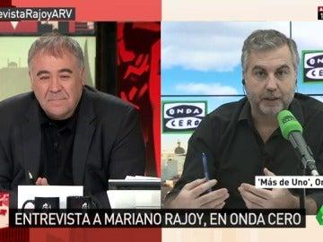 """Frame 154.401791 de: Alsina valora la entrevista a Rajoy: """"No hay ningún asunto que le suponga una amenaza para su estabilida"""