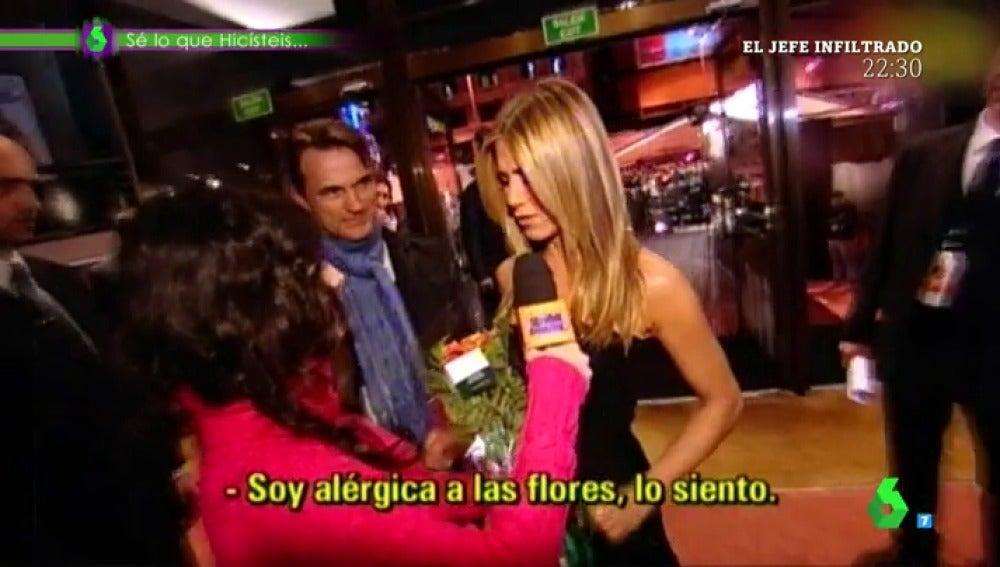 Frame 31.351666 de: Cristina Pedroche y Jennifer Aniston compinchadas para gastar una broma Paula Prendes