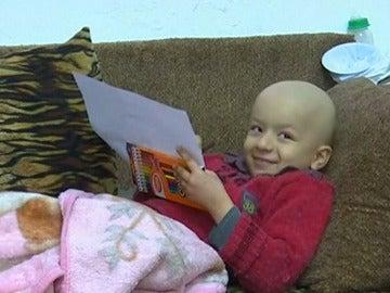 Mohammed, niño sirio enfermo de cáncer