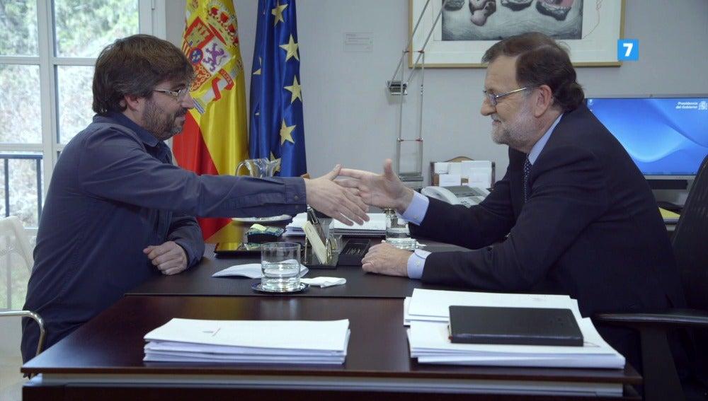 Mariano Rajoy y Jordi Évole