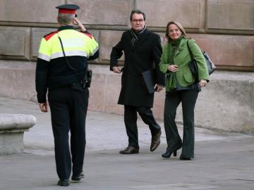 Artur Mas, en la segunda jornada del juicio