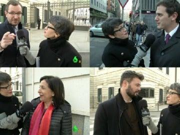 Thais con Albert Rivera, Margarita Robles, Gabriel Rufián y Javier Maroto