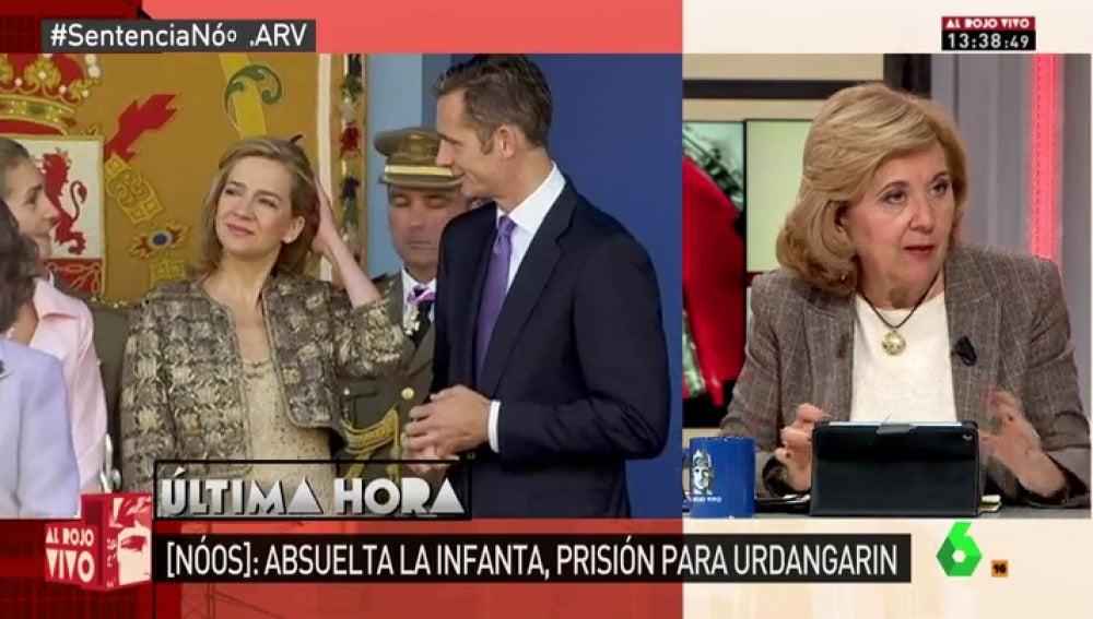 "Frame 89.897332 de: Carmen Enríquez: ""Urdangarin me dijo en 2011, 'calumniar en este país sale gratis'"""