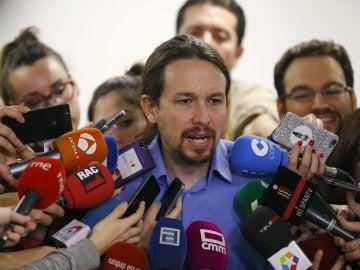 El líder de Podemos, Pablo Iglesias