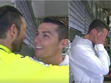 Cristiano Ronaldo y su saludo a Diego López