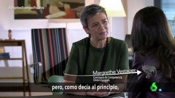 """Frame 21.61722 de: Vestager: """"Trabajamos en nombre de 500 millones de personas, da igual cuantas presiones recibamos"""""""