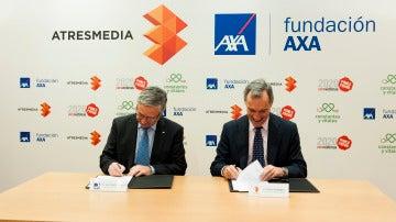Jean Paul Rignault, Consejero Delegado de AXA y Silvio González, Consejero Delegado de Atresmedia