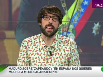 """Frame 19.18213 de: La respuesta de Quique Peinado al saludo de Maduro: """"Nos estamos planteando llamar 'Bolivariando' al programa"""""""
