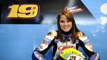 Elena Myers, en el box de Suzuki
