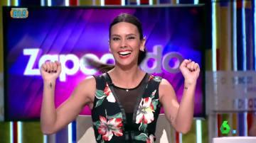 Cristina Pedroche, eufórica en Zapeando