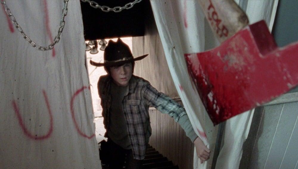 Carl en casa de Morgan