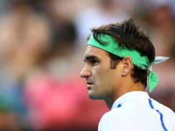 Roger Federer, durante su debut en el Open de Australia