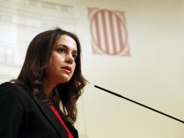 La presidenta y portavoz de Ciudadanos en el Parlamento de Cataluña, Inés Arrimadas