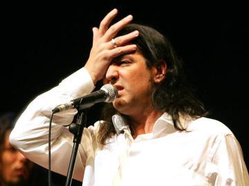 Manolo Tena, en una actuación en Madrid