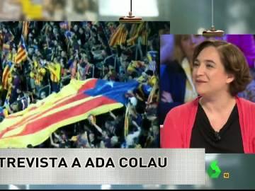 """Ada Colau: """"Será un placer quedarnos en Madrid, ver a Manuela y gozar de una final"""""""