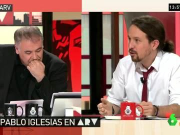 """Pablo Iglesias: """"Ferreras, tendrías que dejar a Aguirre presentar Al Rojo Vivo para que hubiera periodismo"""""""