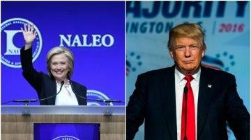 Hillary Clinton y Donald Trump afrontan con un empate técnico en las encuestas su primer cara a cara televisivo