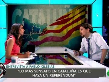 """Pablo Iglesias: """"Lo más sensato en Cataluña es un referéndum, pero escucharemos otras propuestas"""""""