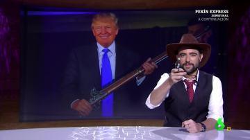 """Dani Mateo: """"Tranquilos, si Trump llega a la Casa Blanca no llevará armas, tiene el maletín nuclear, qué tranquilidad"""""""