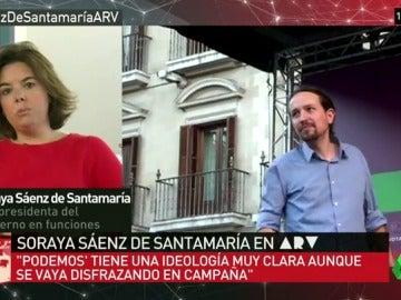 """Sáenz de Santamaría: """"El cambio a Podemos sería un cambio radical a nuestro sistema"""""""