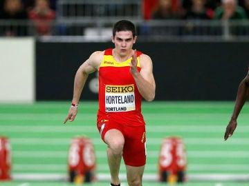 Bruno Hortelano, en una prueba de 100 metros