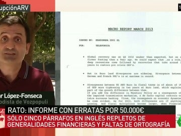 Plagado de erratas y de generalidades financieras, así es el informe en inglés de Rato por el que cobró 50.000 euros