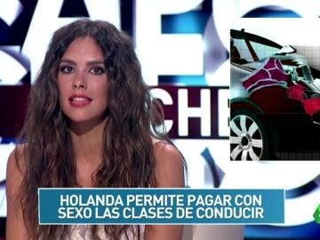 """Cristina Pedroche en Zapcheck: """"¿Se pueden pagar en Holanda las clases de conducir con sexo?"""""""