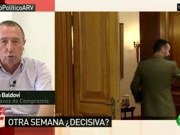 """Baldoví: """"Lo normal es que Rajoy insista, que dé la cara y se presente al Parlamento con sus 14 diputados más"""""""