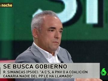 """Rafael Simancas: """"¿De dónde sale la idea de que la única alternativa para que Rajoy tenga gobierno sale del PSOE?"""""""